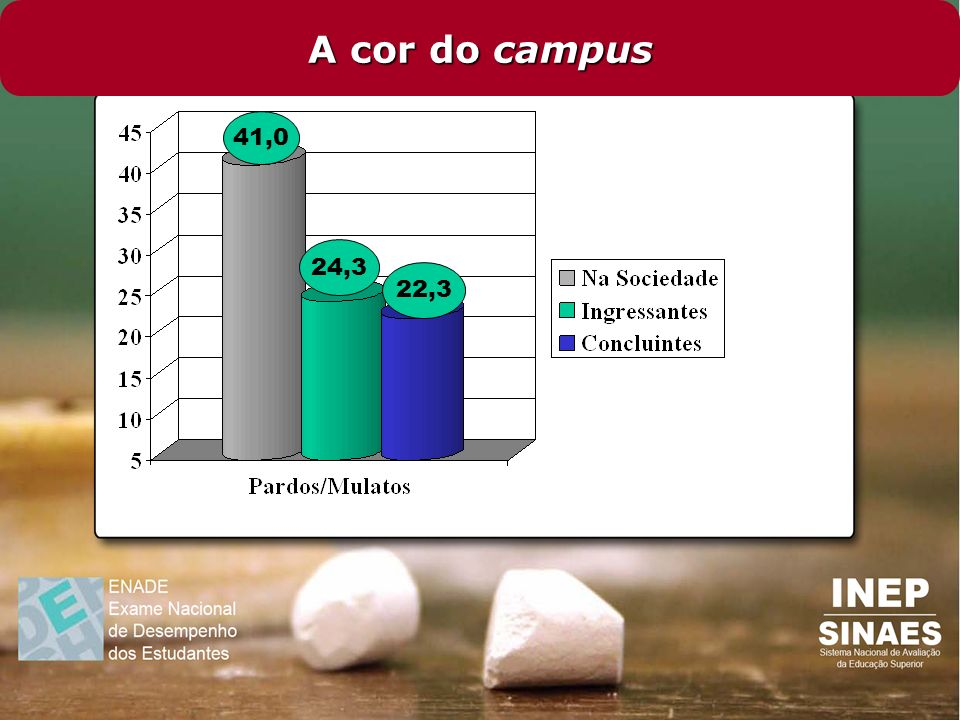 A cor do campus 41,0 24,3 22,3
