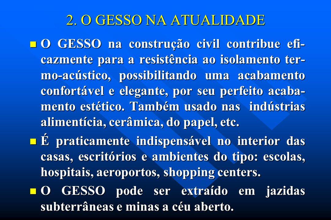2. O GESSO NA ATUALIDADE
