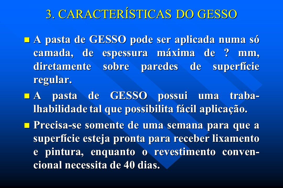 3. CARACTERÍSTICAS DO GESSO