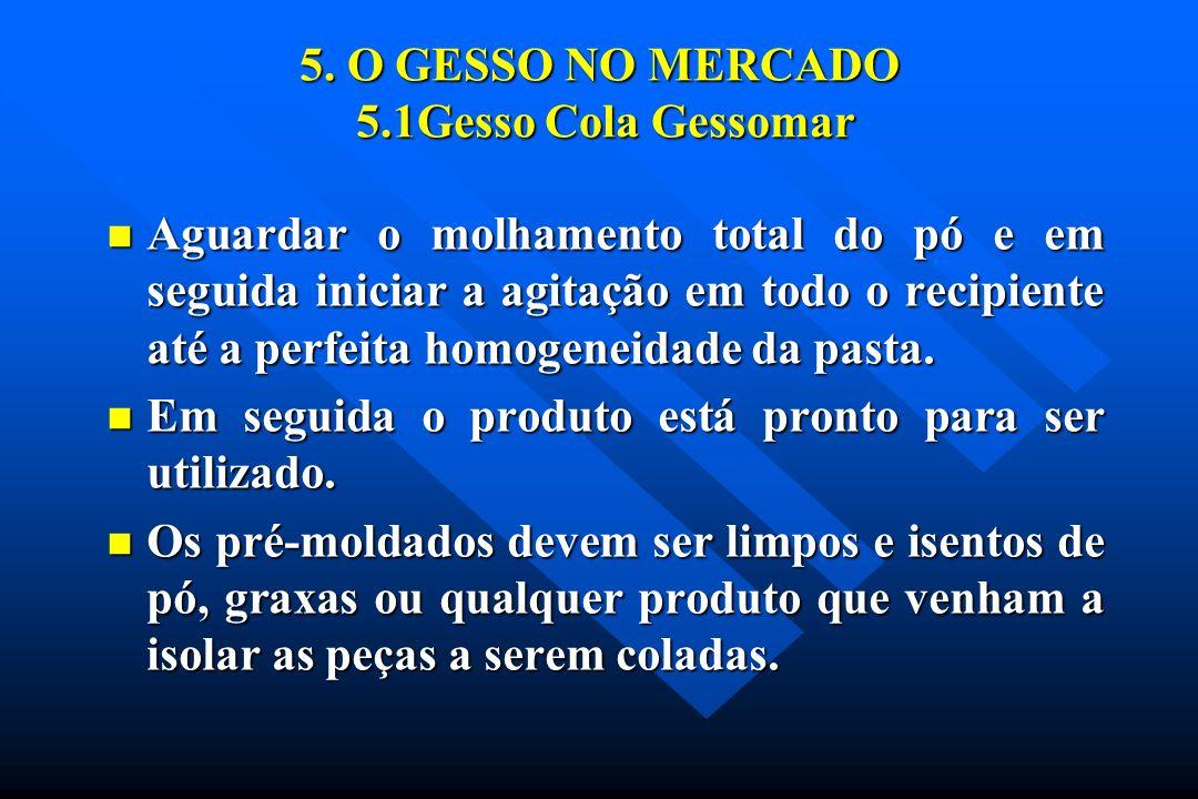 5. O GESSO NO MERCADO 5.1Gesso Cola Gessomar