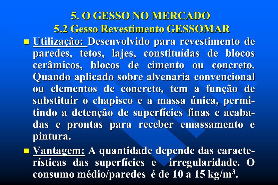 5. O GESSO NO MERCADO 5.2 Gesso Revestimento GESSOMAR