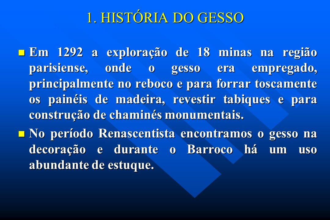 1. HISTÓRIA DO GESSO