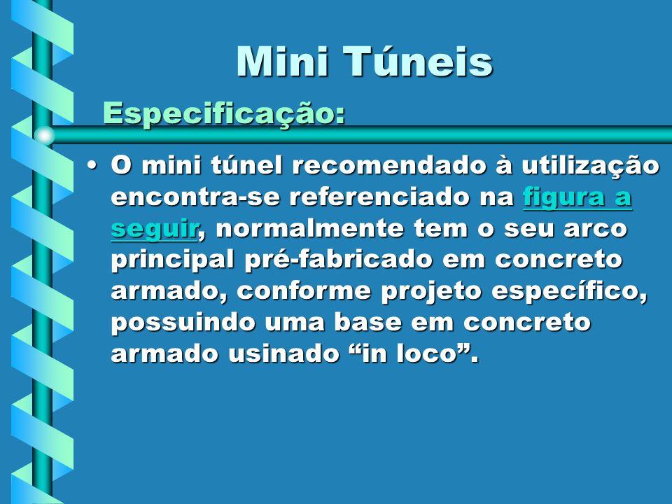 Mini Túneis Especificação: