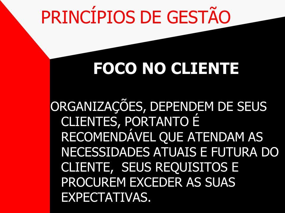 PRINCÍPIOS DE GESTÃO FOCO NO CLIENTE