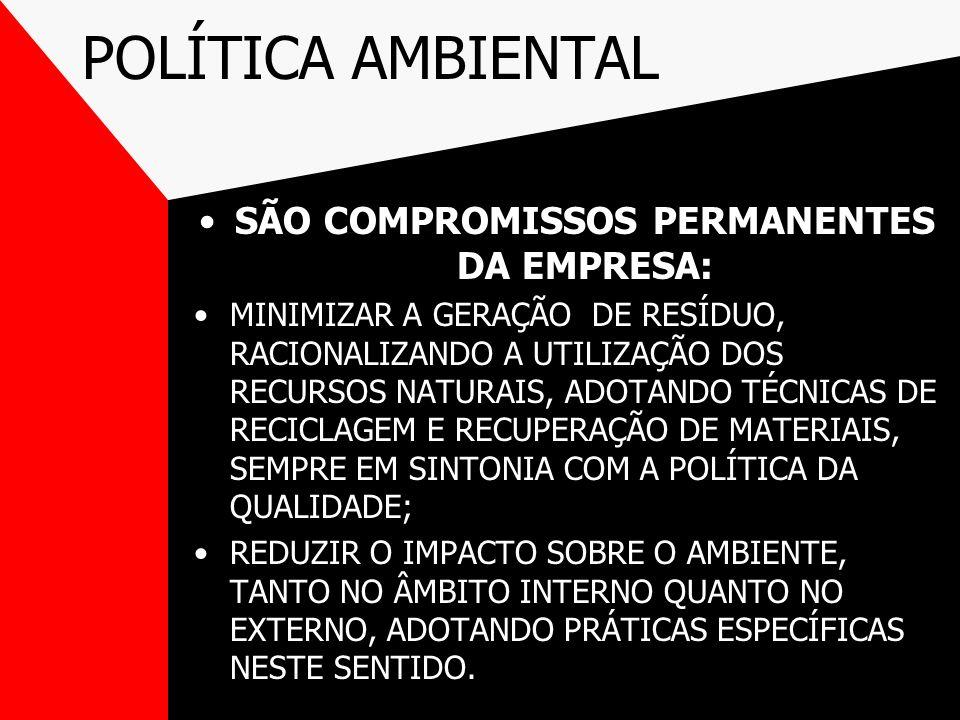 SÃO COMPROMISSOS PERMANENTES DA EMPRESA: