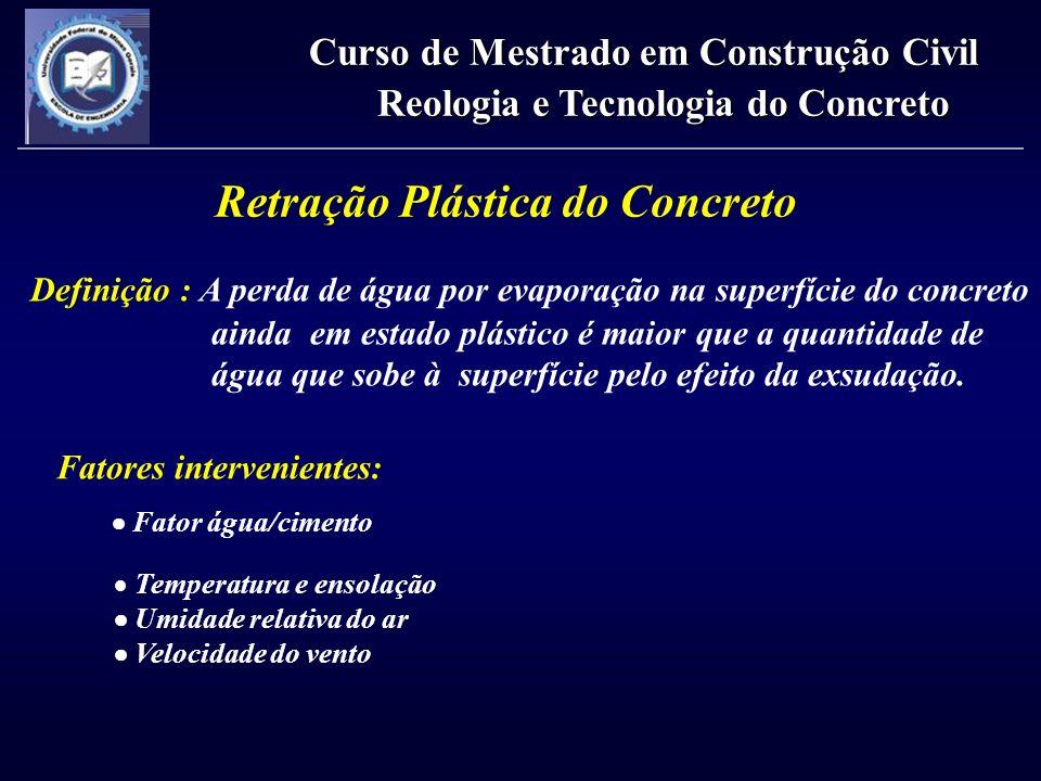 Retração Plástica do Concreto
