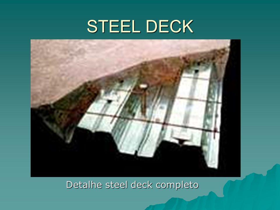 Detalhe steel deck completo