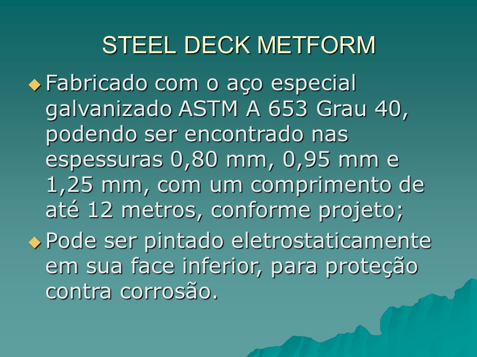 STEEL DECK METFORM