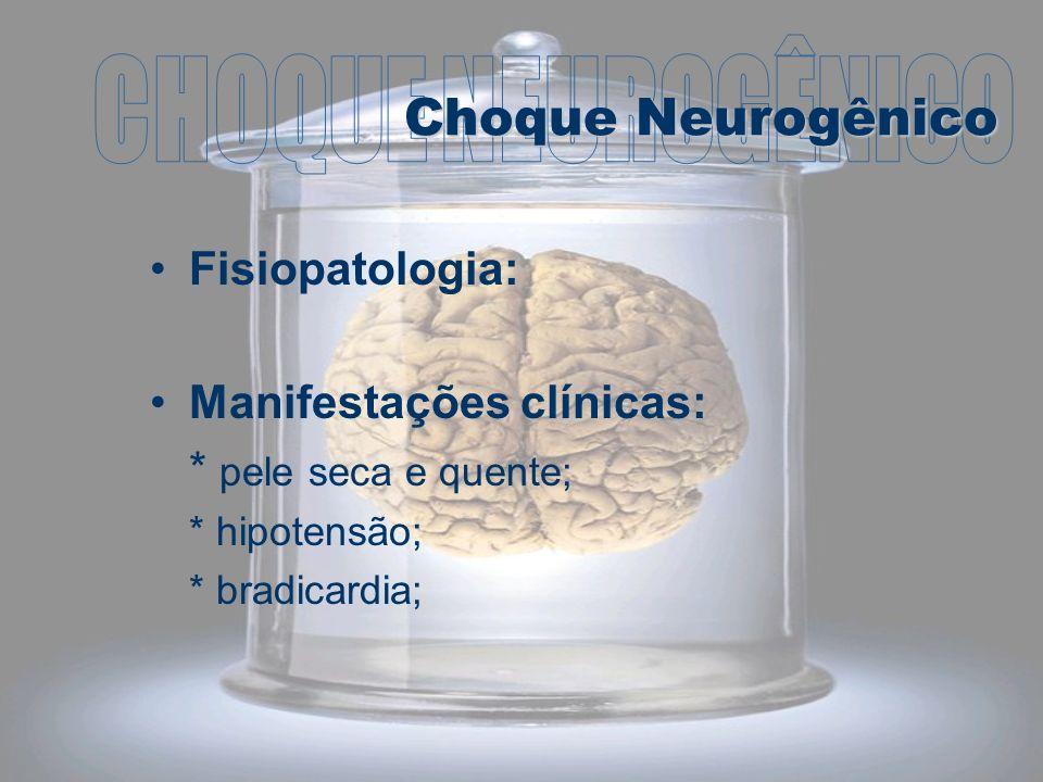 CHOQUE NEUROGÊNICO Choque Neurogênico Fisiopatologia: