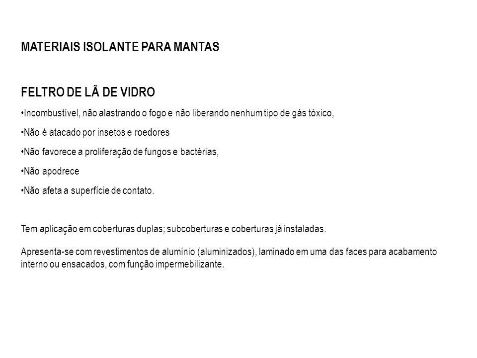 MATERIAIS ISOLANTE PARA MANTAS