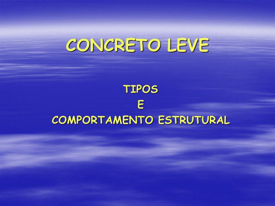 TIPOS E COMPORTAMENTO ESTRUTURAL
