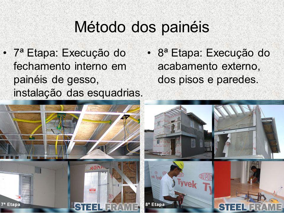 Método dos painéis7ª Etapa: Execução do fechamento interno em painéis de gesso, instalação das esquadrias.