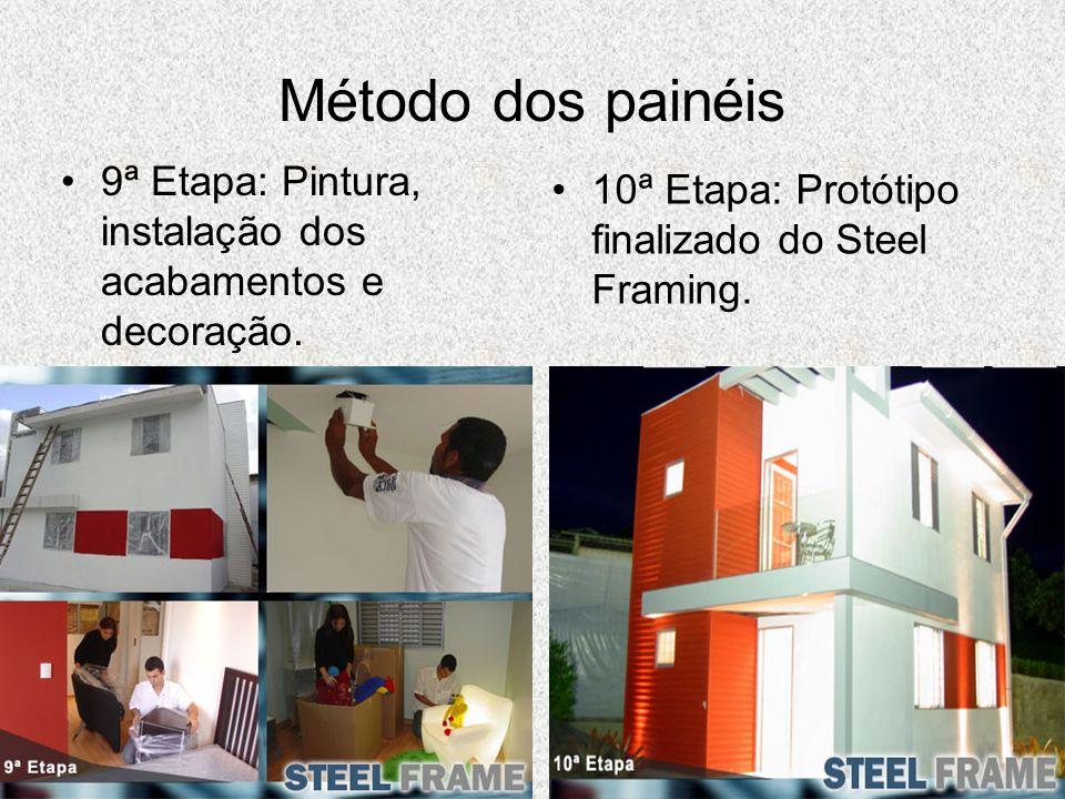 Método dos painéis9ª Etapa: Pintura, instalação dos acabamentos e decoração.