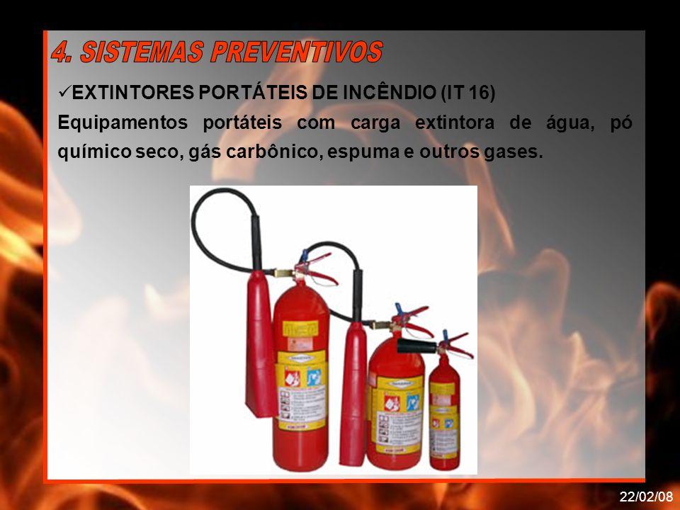 EXTINTORES PORTÁTEIS DE INCÊNDIO (IT 16)