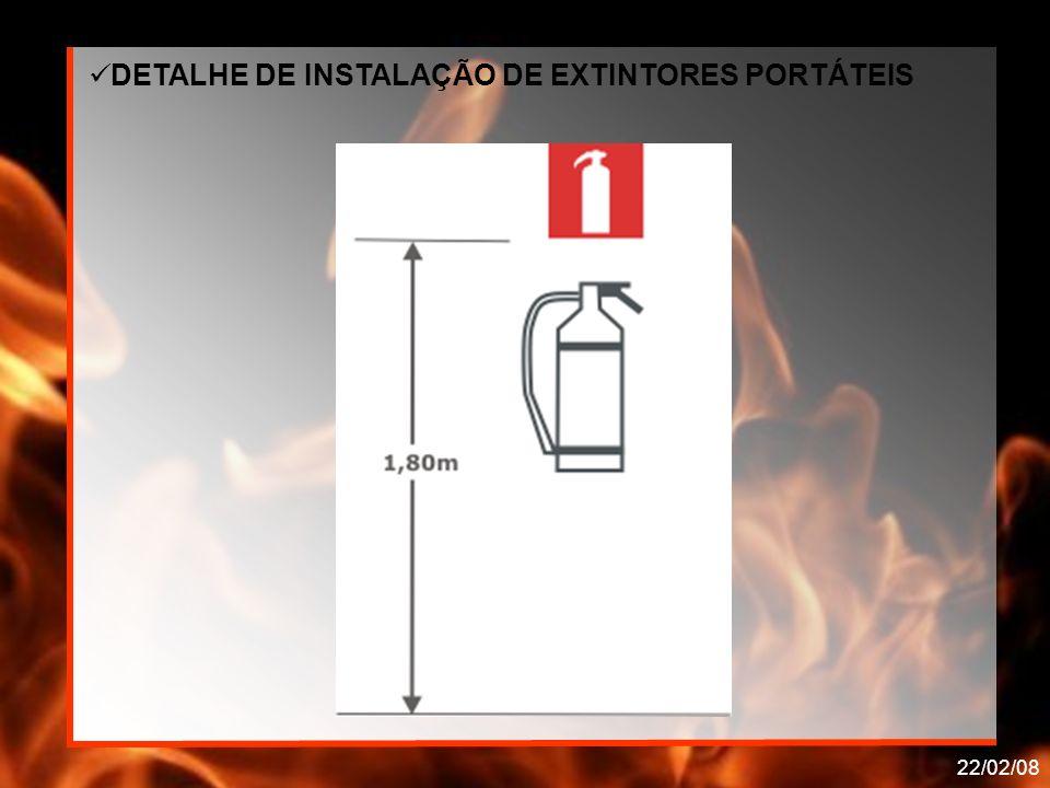DETALHE DE INSTALAÇÃO DE EXTINTORES PORTÁTEIS