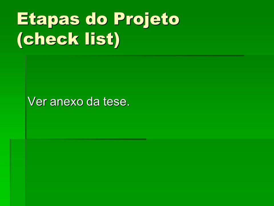 Etapas do Projeto (check list)