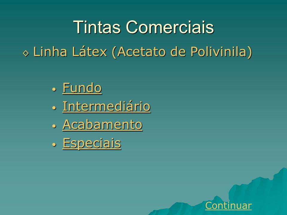 Tintas Comerciais Linha Látex (Acetato de Polivinila) Fundo