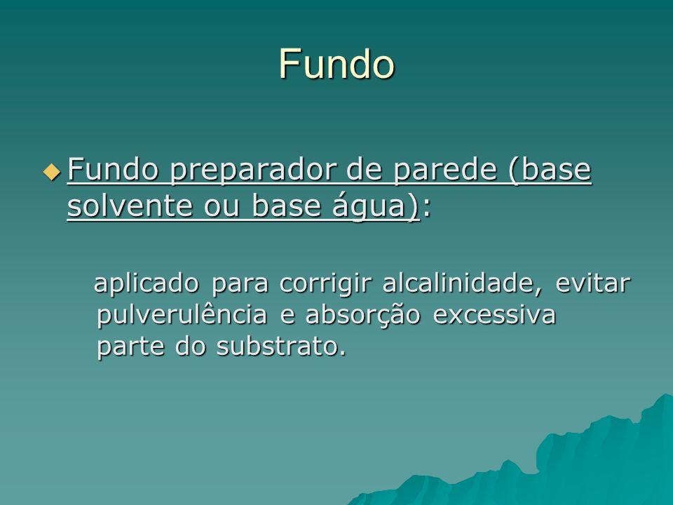 Fundo Fundo preparador de parede (base solvente ou base água):