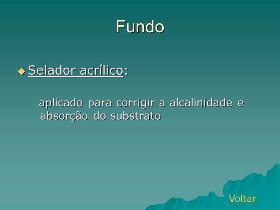 Fundo Selador acrílico: