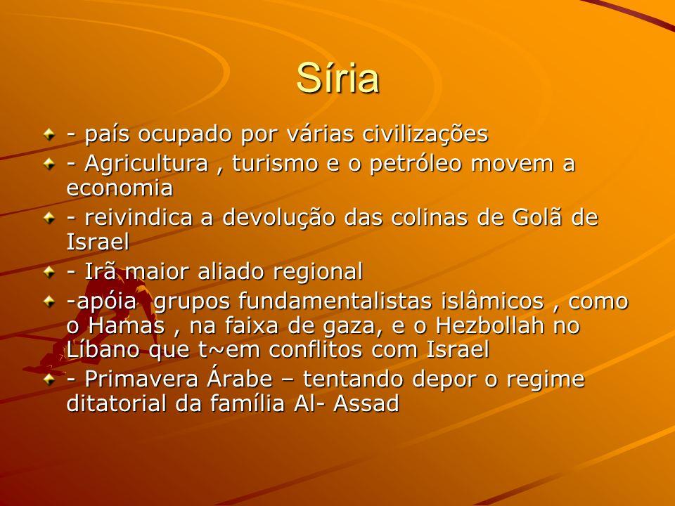 Síria - país ocupado por várias civilizações
