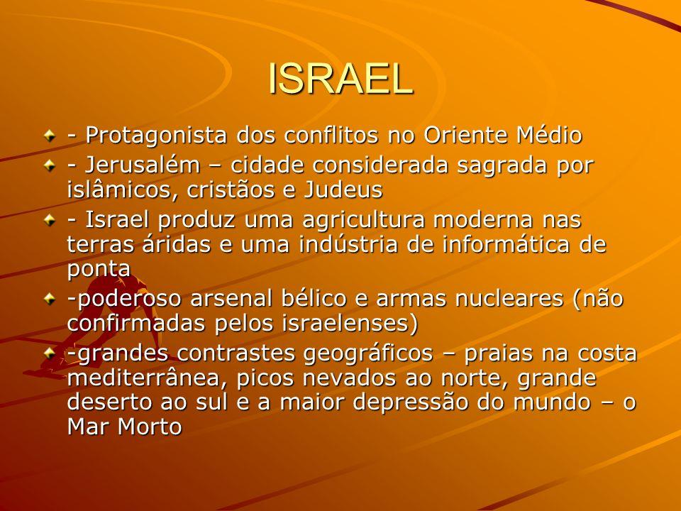 ISRAEL - Protagonista dos conflitos no Oriente Médio