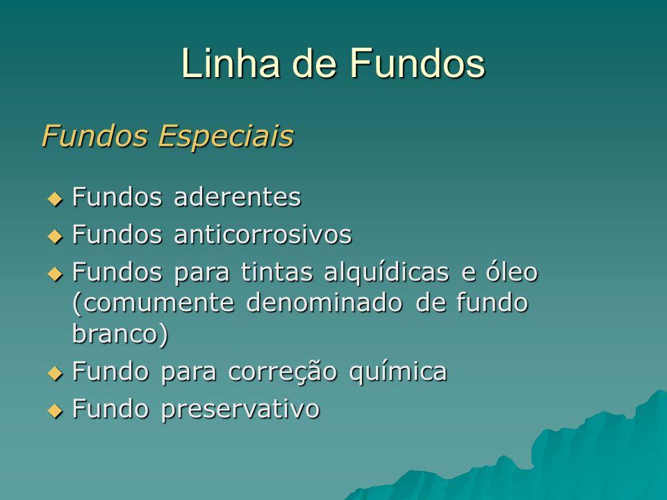 Linha de Fundos Fundos Especiais Fundos aderentes