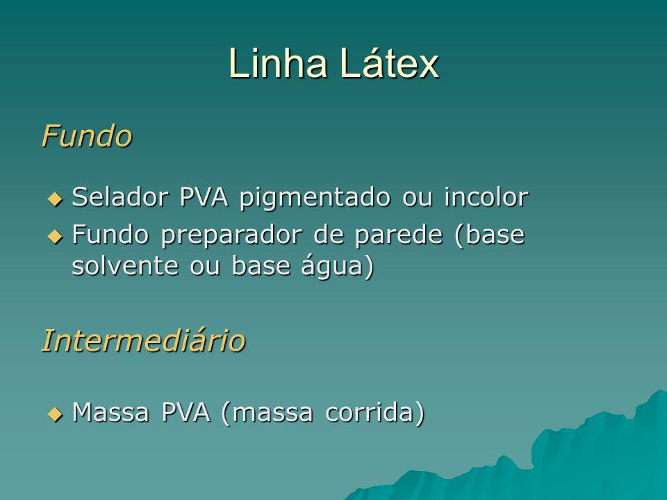 Linha Látex Fundo Intermediário Selador PVA pigmentado ou incolor
