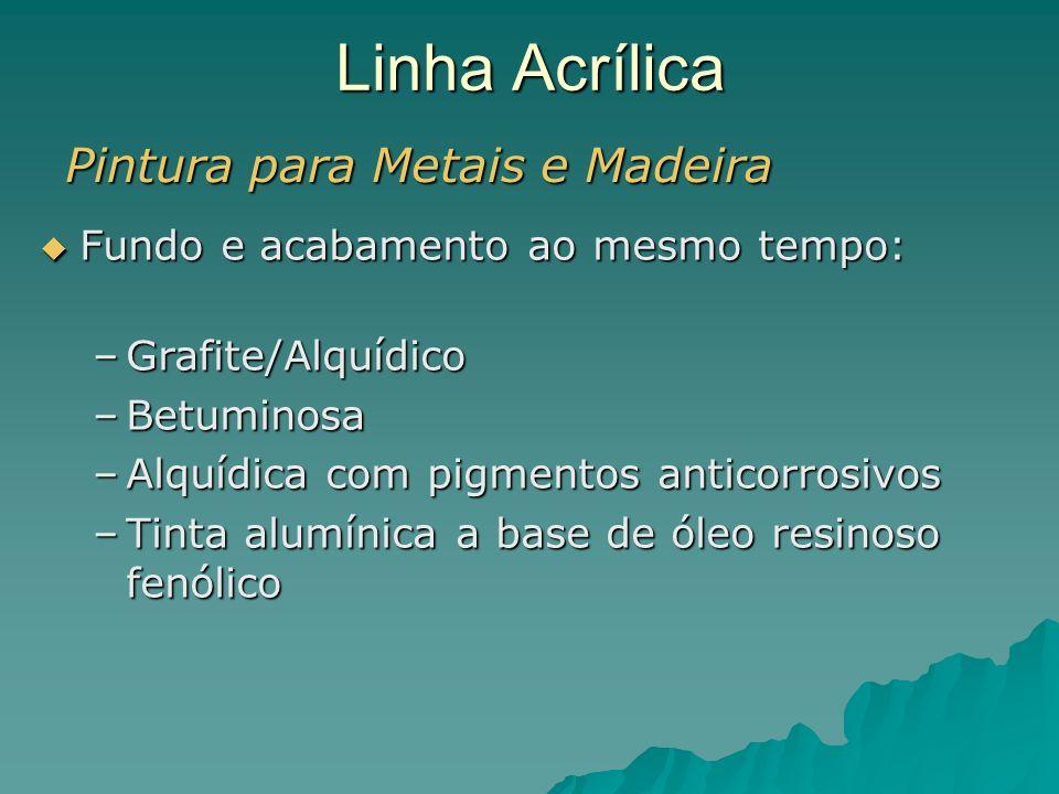 Linha Acrílica Pintura para Metais e Madeira