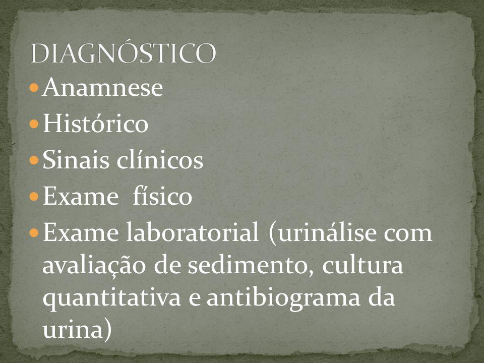 DIAGNÓSTICO Anamnese Histórico Sinais clínicos Exame físico
