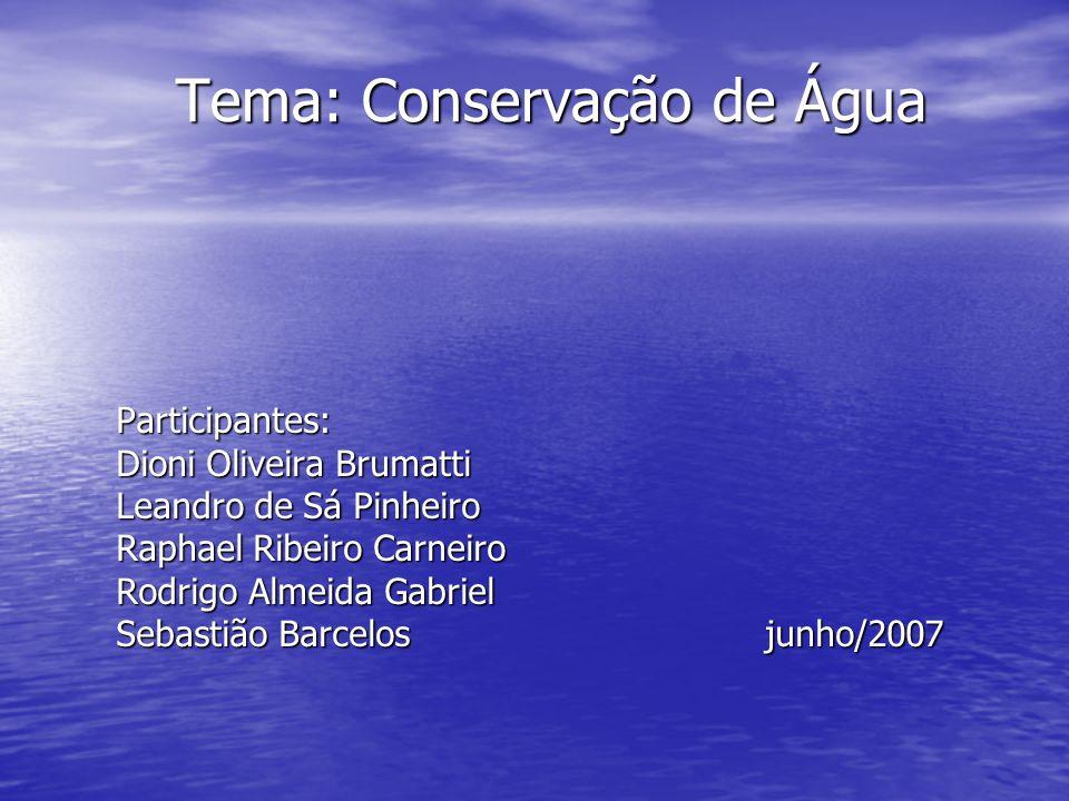 Tema: Conservação de Água