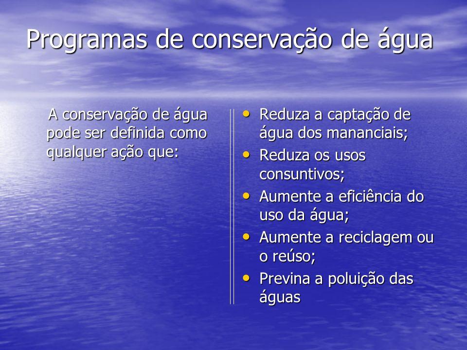 Programas de conservação de água