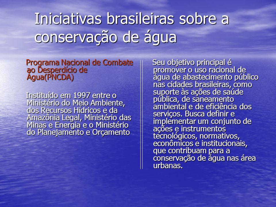 Iniciativas brasileiras sobre a conservação de água