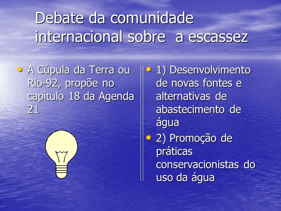 Debate da comunidade internacional sobre a escassez