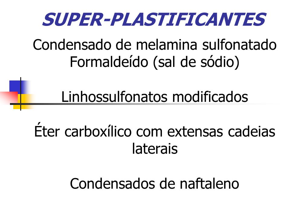 SUPER-PLASTIFICANTES
