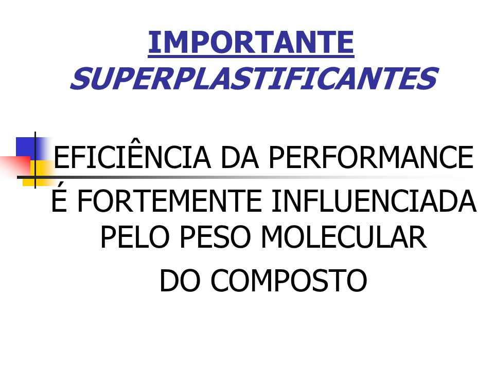 IMPORTANTE SUPERPLASTIFICANTES