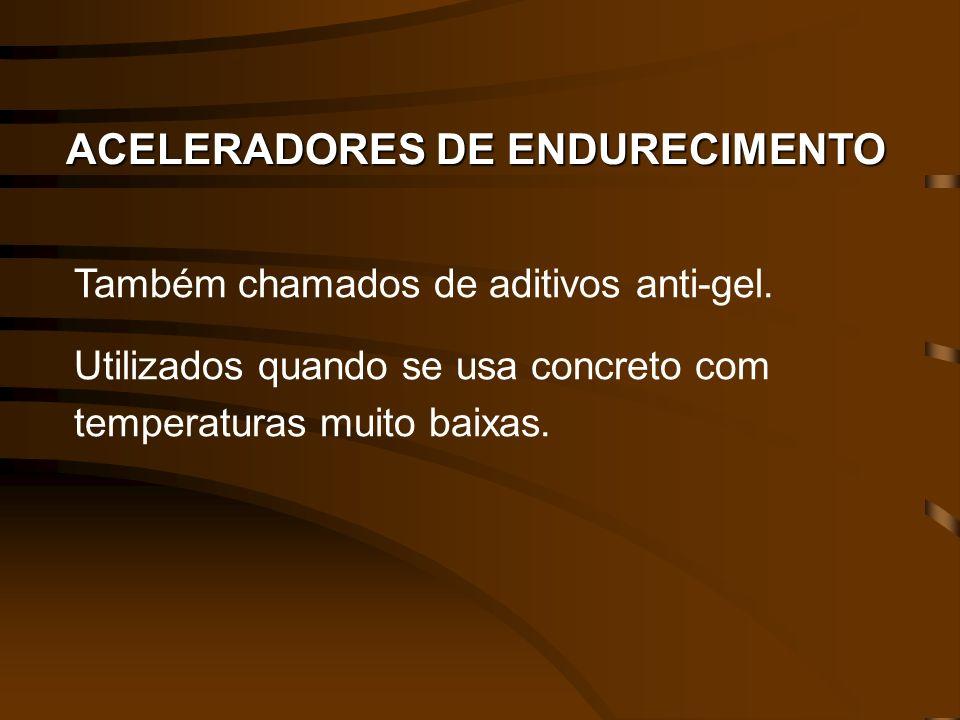ACELERADORES DE ENDURECIMENTO