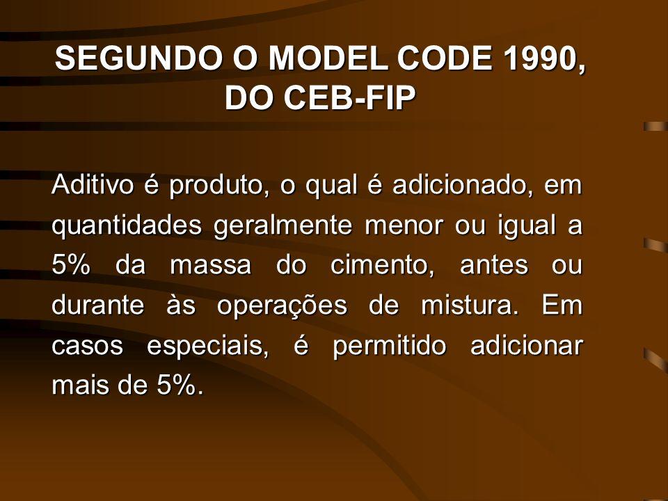 SEGUNDO O MODEL CODE 1990, DO CEB-FIP