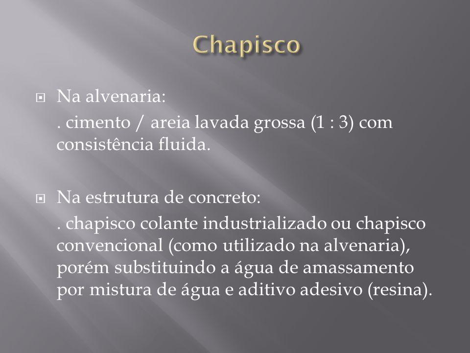 Chapisco Na alvenaria: