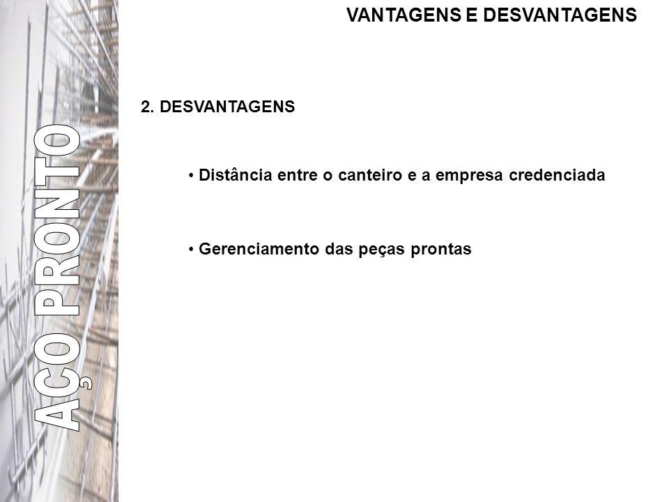 AÇO PRONTO VANTAGENS E DESVANTAGENS 2. DESVANTAGENS