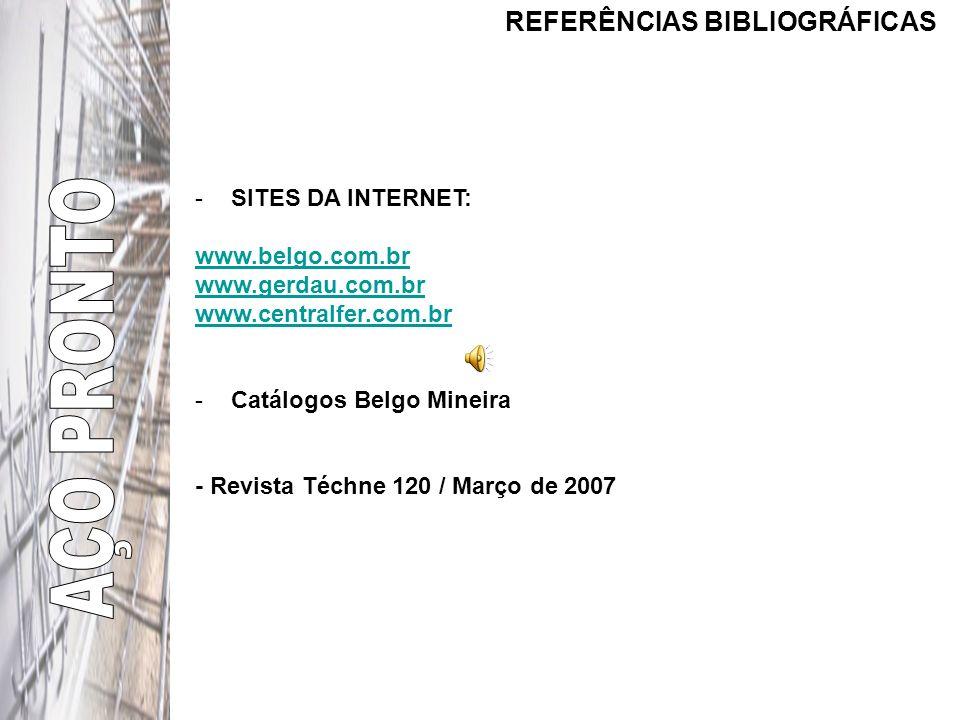AÇO PRONTO REFERÊNCIAS BIBLIOGRÁFICAS SITES DA INTERNET: