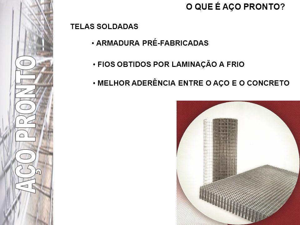 AÇO PRONTO O QUE É AÇO PRONTO TELAS SOLDADAS ARMADURA PRÉ-FABRICADAS