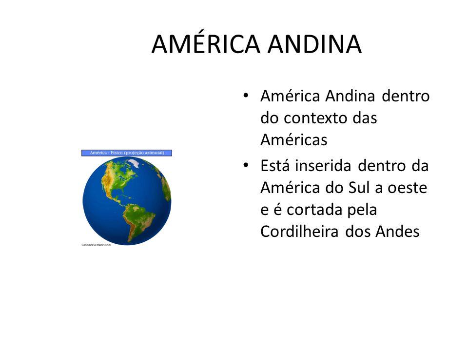 AMÉRICA ANDINA América Andina dentro do contexto das Américas