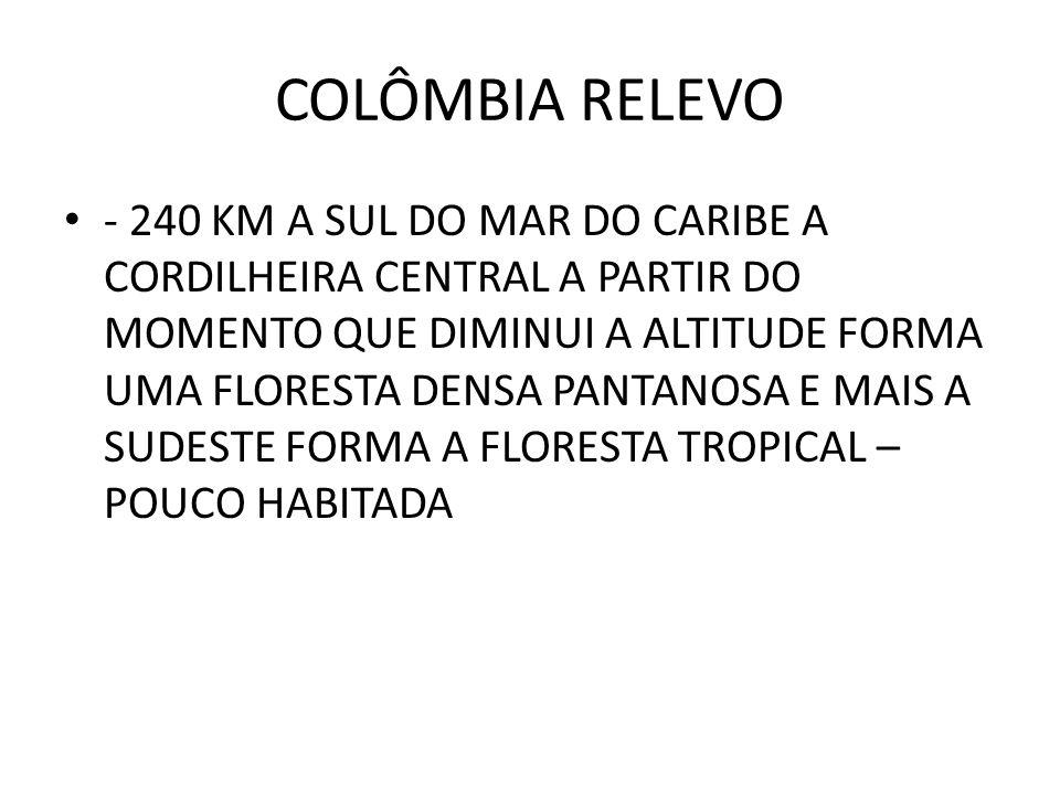 COLÔMBIA RELEVO