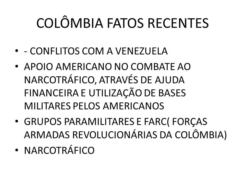 COLÔMBIA FATOS RECENTES