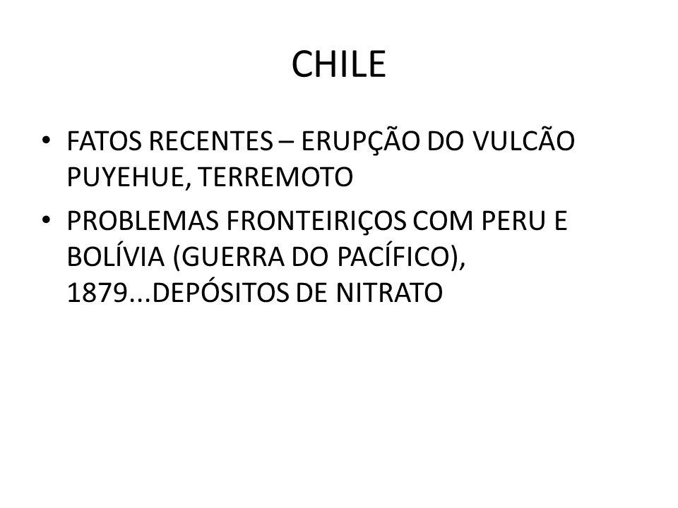 CHILE FATOS RECENTES – ERUPÇÃO DO VULCÃO PUYEHUE, TERREMOTO