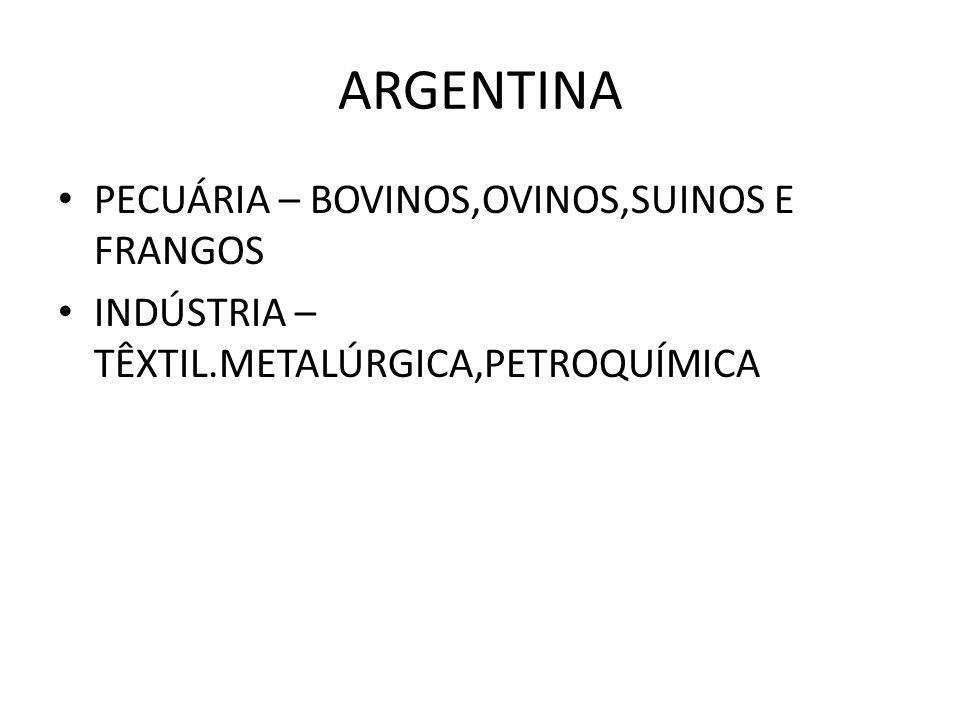 ARGENTINA PECUÁRIA – BOVINOS,OVINOS,SUINOS E FRANGOS