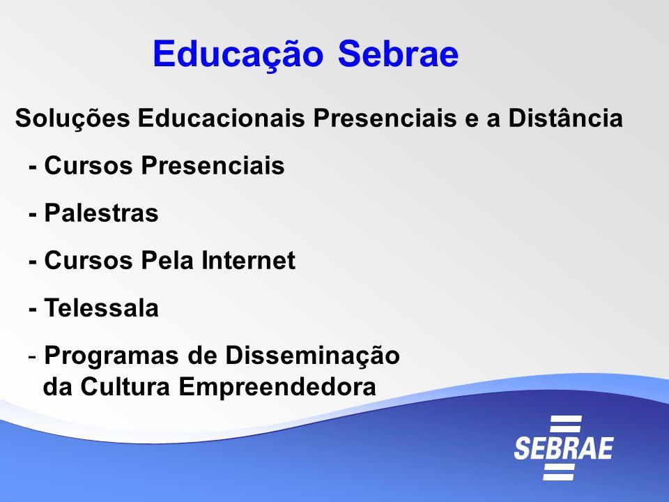 Educação Sebrae Soluções Educacionais Presenciais e a Distância