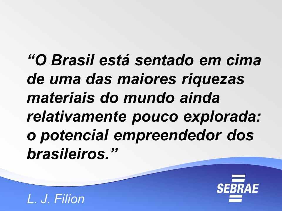 O Brasil está sentado em cima de uma das maiores riquezas materiais do mundo ainda relativamente pouco explorada: o potencial empreendedor dos brasileiros.