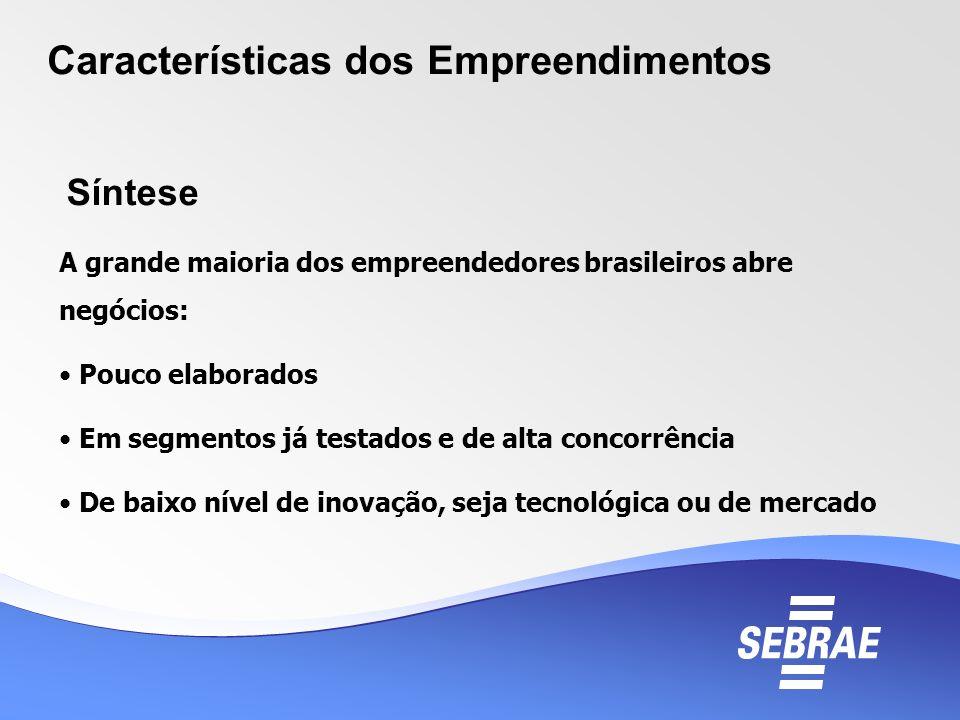 Características dos Empreendimentos