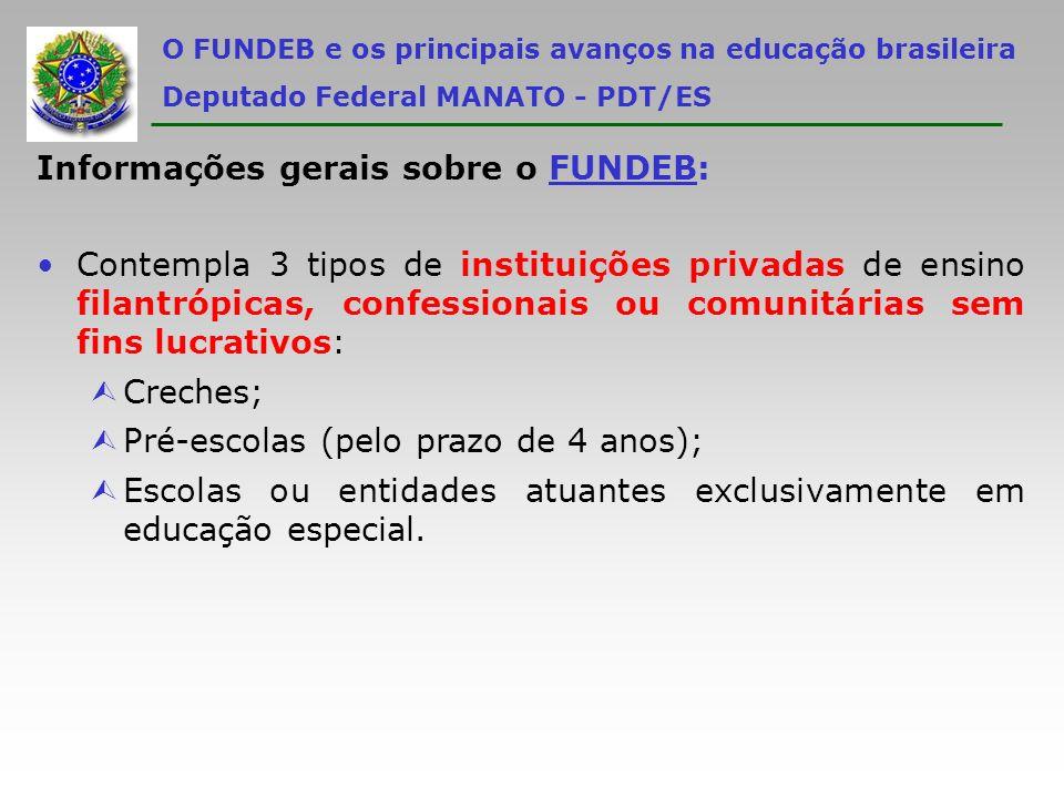 Informações gerais sobre o FUNDEB: